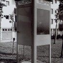Telefonkiosk 1941 med dörrknopp