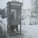 Telefonkiosk 1941 vinter